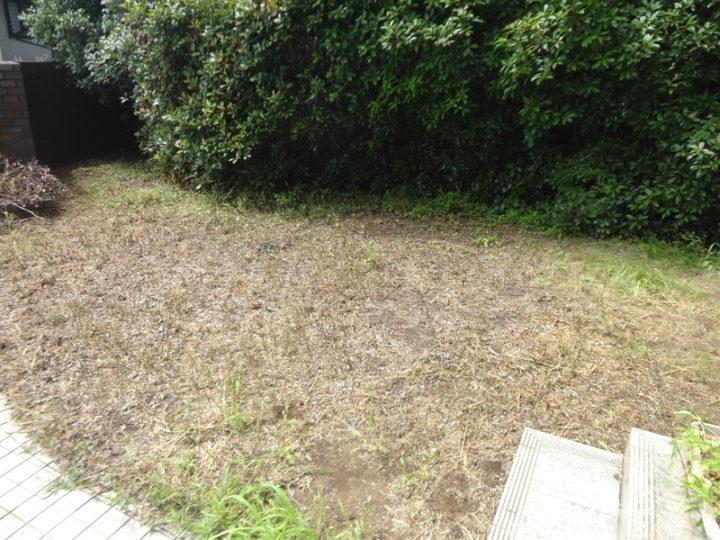 野田市 K様邸 お庭のガチン固舗装工事 施工前