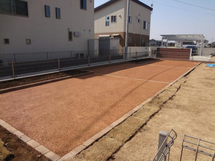 茨城県 O様邸 花壇工事・砂場移動 ガチン固舗装工事 施工後