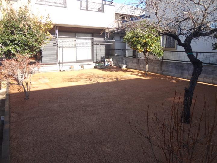 野田市 E様邸 お庭のガチン固舗装工事 施工後