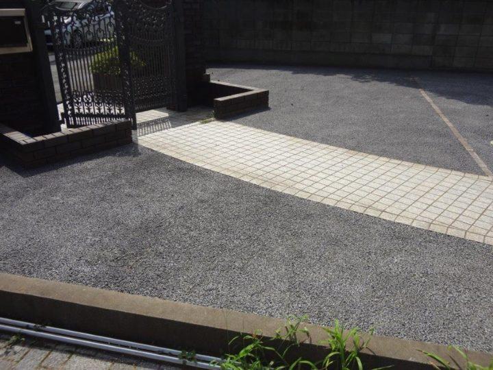 野田市 K様邸 お庭のガチン固舗装工事 施工後