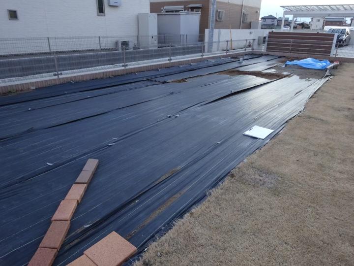 茨城県 O様邸 花壇工事・砂場移動 ガチン固舗装工事 施工前
