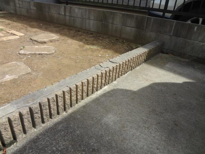柏市 K様邸 駐車場のガチン固舗装工事 施工前