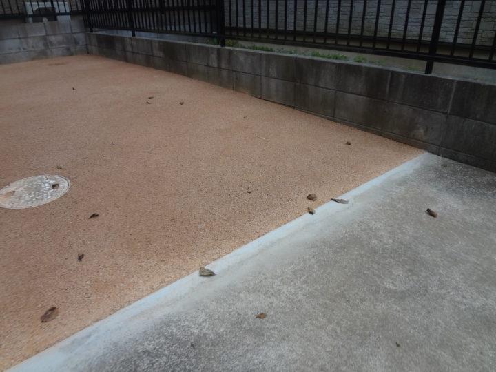 柏市 K様邸 駐車場のガチン固舗装工事 施工後