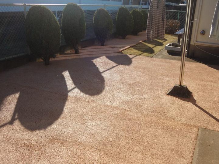 野田市 T様邸 お庭のガチン固舗装工事 施工後