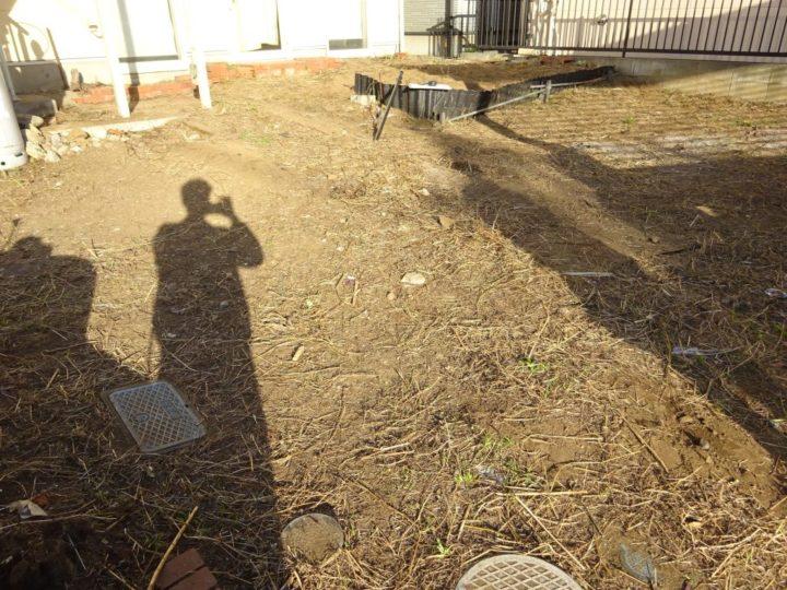 八千代市 S様邸 お庭のガチン固舗装工事 施工前