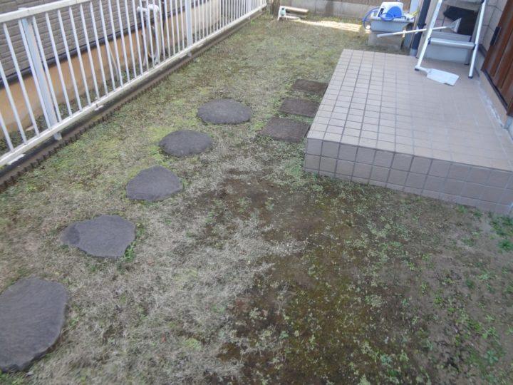 船橋市 H様邸 雑草対策ガチン固舗装工事 施工前