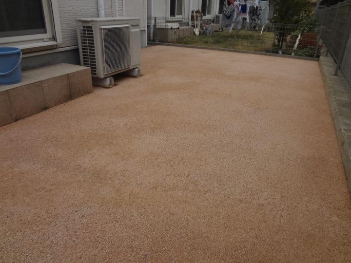 柏市 U様邸 芝生からガチン固舗装工事 施工後