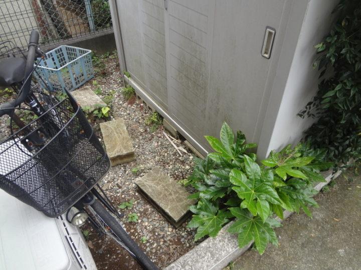 柏市 S様邸 雑草対策ガチン固舗装工事 施工前