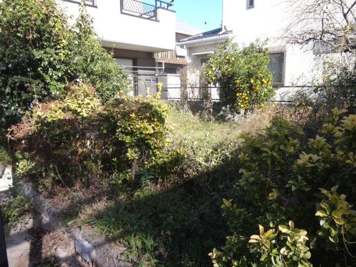 野田市 E様邸 お庭のガチン固舗装工事 施工前