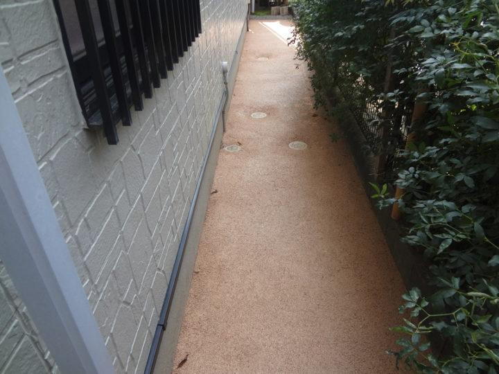 柏市 S様邸 雑草対策ガチン固舗装工事 施工後