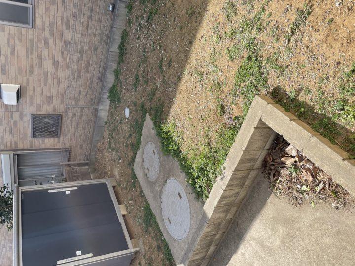 野田市 S様邸 お庭のガチン固工事 施工前